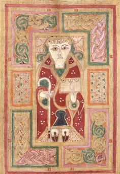 Illustration from a 10th century Irish manuscript known as the Macdurnan Gospels