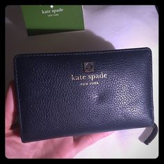 Kate Spade wallet EUC Navy blue leather wallet. kate spade Bags Wallets