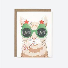 Merry Christmas Cat Holiday Greeting Card Box Set