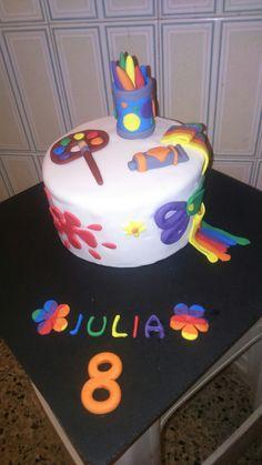 Tarta artistica Art cake by dulcemelcocha