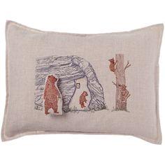 Coral and Tusk - bear cave pocket pillow