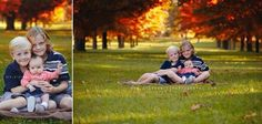 Fall Family Portraits at the park with the red and golden leaves | Ottawa Gatineau Baby Photographer