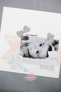 Use Lifestyle Crafts new Shape N Tape sheets to create a beautiful baby scrapbook layout. Bridal Shower Scrapbook, Baby Girl Scrapbook, Baby Scrapbook Pages, Travel Scrapbook, Scrapbook Cards, Kids Scrapbook, Scrapbook Designs, Scrapbook Supplies, Scrapbooking Layouts