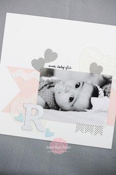 Beautiful Baby Scrapbook Layout | Sweet Rose Studio