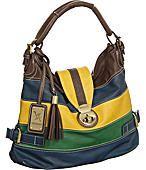 "Large Vitalio Vera ""Zane"" Hobo Handbags in Yellow & Blue"
