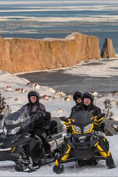 Enjoy Gaspésie on a kilometres of safe and snow-covered trails. In the midst of spectacular winter panoramas, close to km of snowmobile trails can be found, along which nearly twenty clubs maintain stopover facilities. Snowmobiles, Meet People, Points, Atv, Wilderness, The Twenties, Hiking Boots, Skiing, Trail