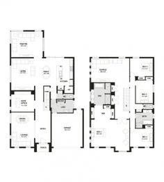 446ac6920a0049daea1e9fde394060d7 floor plans home design manhattan 42 double storey home design 4 bedroom 2 bathroom,Four Bedroom Double Storey House Plan