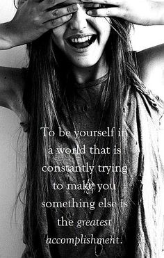 picture quote on being yourself