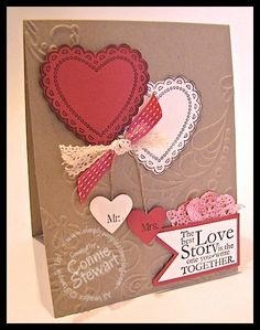 Hearts a Flutter Valentine card