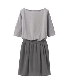 WOMEN COMBINATION BOAT NECK 1/2 SLEEVE DRESS