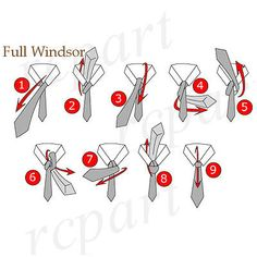 A classic knot is the Full Windsor. It looks great, it's symmetrical and it suits almost all occasions and looks more business style than the Half Windsor knot. This is the one to use when you go to the office or if you have a thin fabric tie. Tie A Tie Easy, Windsor Tie Knot, Double Windsor, Tie A Necktie, Vertical Stripes, Tie Knots, Step By Step Instructions, Just In Case, Tying A Tie