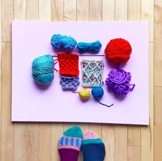 Mil Smith flat lay knitting inspiration Flat Lay, Knits, Crochet Necklace, Photo And Video, Knitting, Inspiration, Instagram, Biblical Inspiration, Tricot