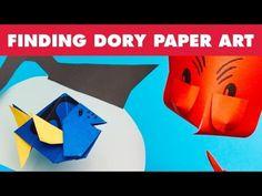 #LeMondeDeDory Un petit tuto qui montre comment fabriquer Dory et Hank en #Papier. #Tutoriel @disneyfr