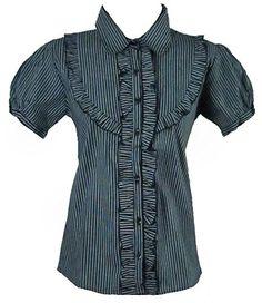Womens Black pinstripe ruffle bib victorian cotton vintage blouse-12 40 design collection http://www.amazon.co.uk/dp/B00M23027Y/ref=cm_sw_r_pi_dp_-dS1tb0DBS9JD4VF