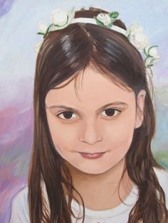 Girl with a Ribbon by Dina Seifer Is in the ArtisTTable's Portrait Exhibition - Eye•Eye•Nose•Mouth