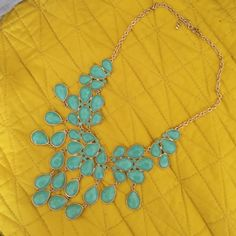 Beautiful statement necklace ! Super cute turquoise statement necklace ! Perfect for the spring time !! Francesca's Collections Jewelry Necklaces