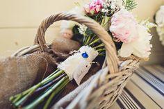 bridal bouquet - Isobel and Ed rustic Tipi Wedding // photo: Anna Clarke