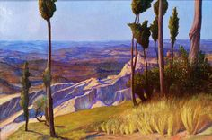 The Pisan Plain from Volterra by William Blake Richmond. 1892. Oil on canvas.