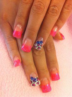 Cheetah and 3D Bow Nails