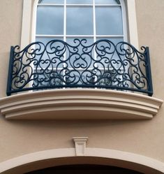 Wrought Iron Balcony made by Adoore Iron Designs located in Melbourne Australia.