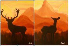 Such a fun Date Night idea!  Girl paints doe, boy paints deer!