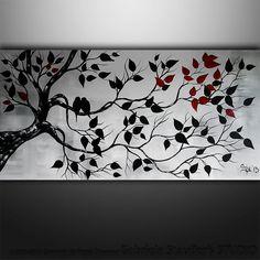 La peinture abstraite oiseaux peinture peinture de paysage