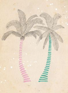Emily Hamilton - Palm Trees, Plain