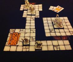 10mm minis on Inked Adventures Dungeon Cut-Ups Cards (Pocket Edition).  Billiam Babble Tumblr