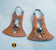 Aros chaway de cobre. Ver más detalles en   http://www.joyaslabrix.cl/index.php?modulo=10&Codigo=76