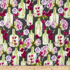 Designed for Michael Miller, this cotton print fabric is perfect for quilting, apparel and home decor accents. Colors include plum, lavender, green, white, and charcoal.