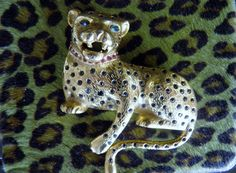 Huge Panther Pin Brooch Signed Butler and by veryfrenchbydesign, $175.00