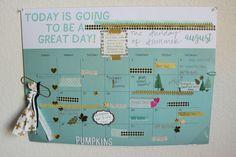 Desk Calendar- Pretty Planner Style!  