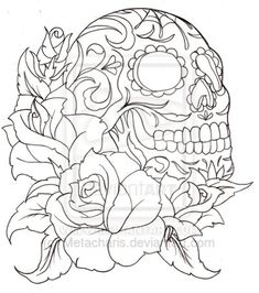 Sugar Skulls And Roses Coloring Pages Free Online Printable Sheets For Kids Get The Latest