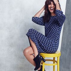 Go office chic in a dress and booties.