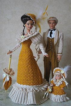 BArbie Ken And KElly Dolls in CRochet Dress,Picasa Webalbums