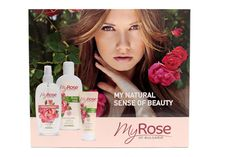 Gift Set Natural Bulgarian Rose Water Body Milk and Hand Cream with Rose Oil