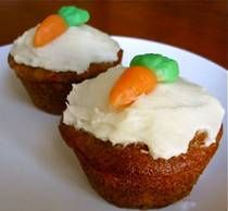 Carrot Cake Cupcakes. Perfect for Easter. w/pineapple