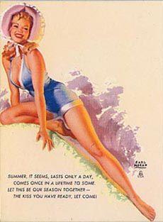 Earl Moran - Summer, It Seems, Last Only a Day (model Norma Jeane Baker)
