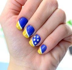 como fazer Unhas decoradas copa do mundo brasil