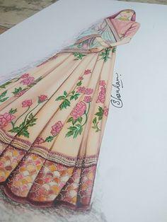 Dress Illustration, Fashion Illustration Dresses, Fashion Illustrations, Clothes Design Drawing, Dress Design Sketches, Fashion Design Books, Fashion Design Drawings, Sketch Fashion, Fashion Sketchbook