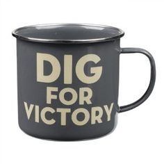 Thoughtful Gardener Dig for Victory Tin Mug