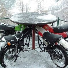 I'm going to find from a pick your part place some old motorcycle parts & do something like this for my hubby's future man cave :)