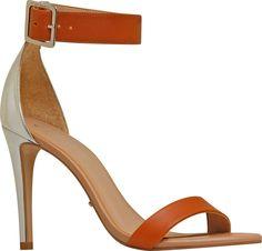 Shoes / calçados Sandália de tiras Sandalia isis ocre/pele/prata - Carmim Store