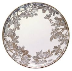 "Arbor Gold/Platinum Platter, 12.25"" - Holiday Tabletop - Entertaining - Holiday 