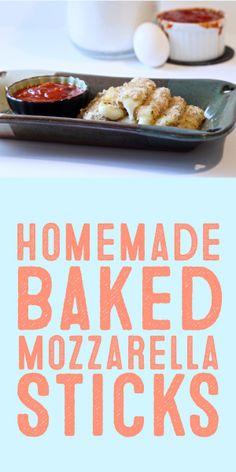 Homemade Baked Mozzarella Sticks