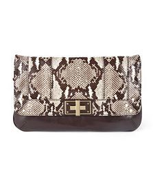 milly kathryn embossed python clutch at eve's apple