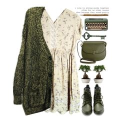 Winter Green by evangeline-lily on Polyvore featuring мода, Loeffler Randall, Valextra and Pier 1 Imports