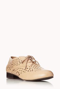 Cutting Edge Oxfords | FOREVER21 - 2000050891 #cream #oxfords #cute #fashion #shoes