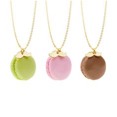 Sweet Macaroon necklaces! Great as a small Christmas gift!