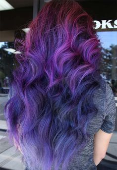 63 Purple Hair Color Ideas to Swoon Over: Violet & Purple Hair Dye Tips Makeup Tips for Purple Hair Purple Hair Tips, Balayage Hair Purple, Light Purple Hair, Dyed Hair Purple, Colored Hair Tips, Hair Color Purple, Hair Dye Colors, Green Hair, Violet Hair